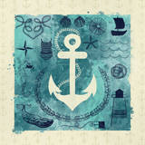Anchor in Love I Print by Ashley Sta Teresa