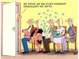 Seifenblasenkatze Poster by Uli Stein