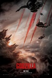Godzilla Double Sided Advance Movie Poster Afiche