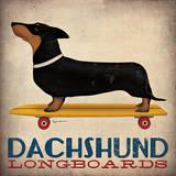 Dachshund Longboards Plakater av Ryan Fowler
