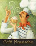 Cafe Moustache II Posters par Lisa Audit