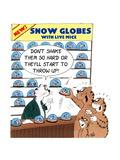 Snow Globes with Live Mice Prints by Uli Stein