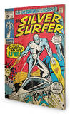 Silver Surfer - Must Live Wood Sign Treskilt