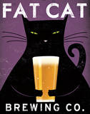 Cat Brewing Prints by Ryan Fowler