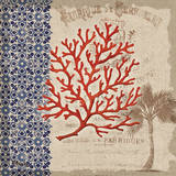 Burlap Coral I Prints by Paul Brent