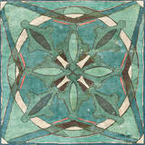 Tuscan Tile Blue Green II Prints by Kristy Goggio