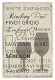 White Wine Collection - Mini Poster by Aimee Wilson