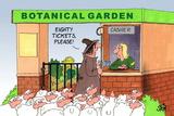 Botanical Garden Posters by Uli Stein