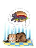 Mouseburger Print by Uli Stein