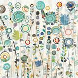 Ocean Garden I Square Posters par Candra Boggs