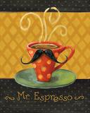 Cafe Moustache III Art by Lisa Audit