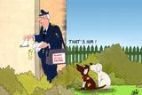 Vicious Mailman Poster by Uli Stein