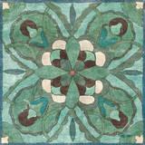 Tuscan Tile Blue Green I Plakat af Kristy Goggio