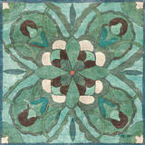 Tuscan Tile Blue Green I Print by Kristy Goggio