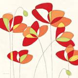 Poppy Field Square II Prints by Sarah Faulkner