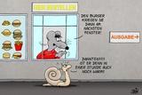 Burger Ein Fenster Weiter Posters by Uli Stein