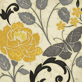 Perfect Petals I Yellow Poster by  Pela