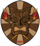 Vulture Kulture Tiki Shield Wall Jammer Wall Decal Wall Decal