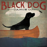 Black Dog Canoe Kunst van Ryan Fowler