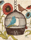 Birds & Blooms III Posters af Todd Williams