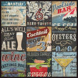 Cocktail Collage Posters by Aaron Christensen