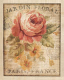 Parisian Flowers II Print by Danhui Nai