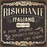 Italian Cuisine I Affiches par Pela Studio