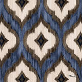 Indigo Ikat I Art Print by Paul Brent