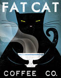 Cat Coffee Art Print by Ryan Fowler