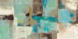 Teal and Aqua Reflections v2 Kunst von Silvia Vassileva