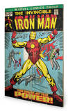 Iron Man - Birth Of Power Wood Sign Panneau en bois