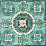 Tuscan Tile Blue Green IV Posters by Kristy Goggio