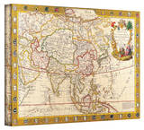 Guillaume Danet 'Map of Asia' Gallery Wrapped Canvas by Guillaume Danet