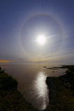 A 22 Degrees Halo around the 2013 Supermoon Photographic Print