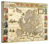 Willem Blaeu 'Map of Europe' Stretched Canvas Print by Willem Blaeu