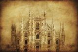 Vintage Photo of Duomo Di Milano, Milan, Italy Photographic Print
