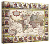 N.I. Piscator 'Nova Totius Terrarum Orbis Geographica ac Hydrographica Tabula' Stretched Canvas Print by N.I. Piscator