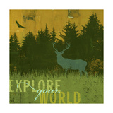 Explore Your World 1 Giclee Print by CJ Elliott