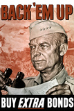 World War II Poster of General Dwight Eisenhower Holding a Map and Binoculars Art