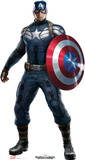 Captain America 2: Winter Soldier  - Captain America Lifesize Standup Cardboard Cutouts