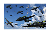 German Sonderkommandos Ram Allied Bombers During World War Ii Poster