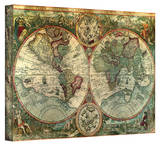 Anonymous Pirate 'Treasure Map' Stretched Canvas Print