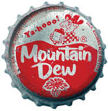 Mountain Dew Bottle Cap Wall Jammer Wall Decal Wall Decal