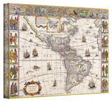 Willem Blaeu 'Map of South America' Stretched Canvas Print by Willem Janszoon Blaeu