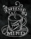 Espresso Your Mind No Border Prints by Mary Urban