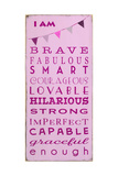 I am Brave Giclee Print by  Barn Owl Primitives