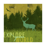 Explore Your World 2 Poster by CJ Elliott
