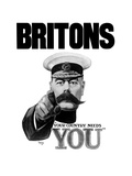 English World War I Propaganda Poster Featuring Lord Kitchener Prints