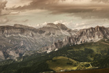 Aerial View of Dolomite Alps Against Tranquil Clouds, Northern Italy Photographic Print