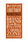Basketball Giclee Print by  Barn Owl Primitives